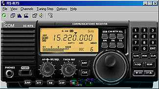 IC-R75 software