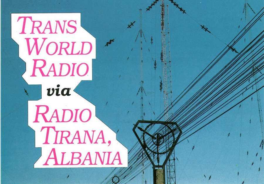 QSL from Trans World Radio broadcasting from Radio Tirana, Albania